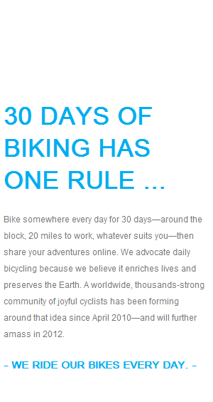30 Days of Biking 2013: Yes We Can!