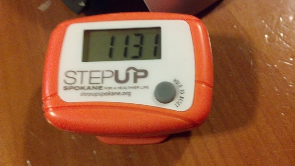 StepUp Spokane pedometer