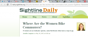 Articles on biking and bicycling related to women, business, and more