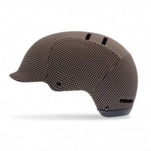 "Giro Women's ""Surface"" Bike Helmet in Beige-Black Houndstooth Check"