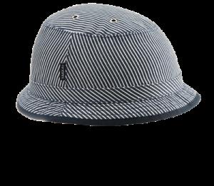 Yakkay Bike Helmet Cover in Tokyo Blue Stripe